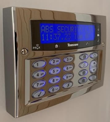 intruder alarm installer as installed by ABS Security Systems